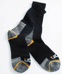 JCB Black Work Socks 4 Pack - One Size