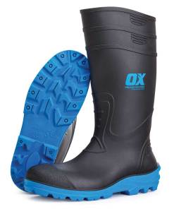 OX Safety Wellington Work Boot (Black/Blue)