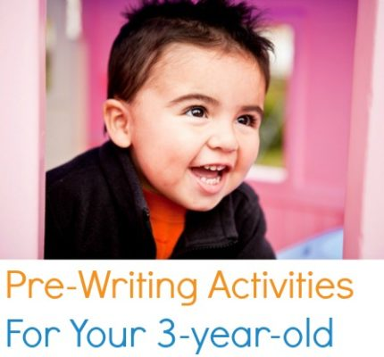 Pre-Writing Activities for your 3 year old