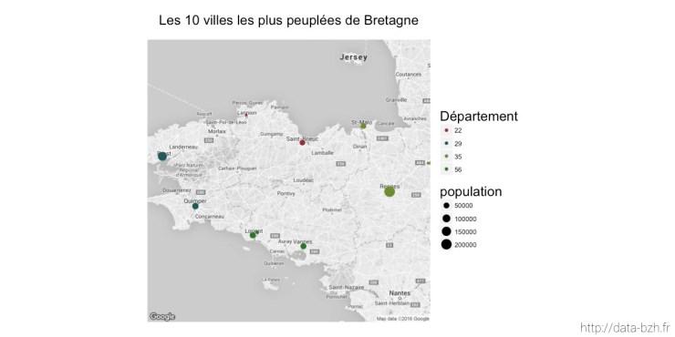 Les 10 villes les plus peuplées de Bretagne