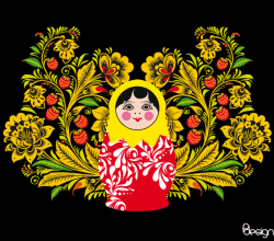 Vector Matryoshka Doll