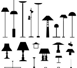 Lamps Vector Silhouettes Free Pack