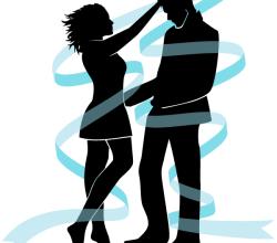 Vector Love Couple Silhouette Image