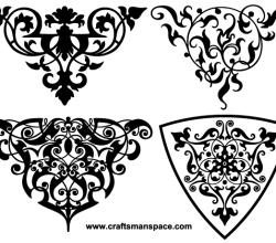 Decorative Ornamental Vignettes Vector
