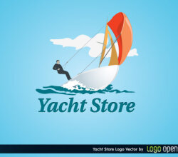 Yacht Store Logo Vector