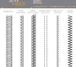 Fashion Design Zippers & Stitching Illustrator Brushes