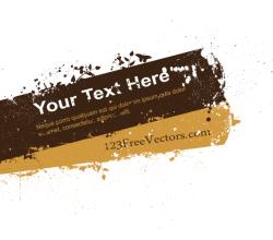 Splatter Banner Vector Graphics