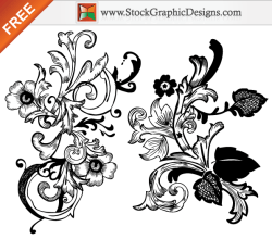 Free Vector Hand Drawn Floral Design Elements