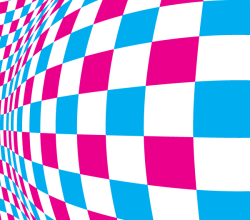 Warped Checkered Pattern Background Design