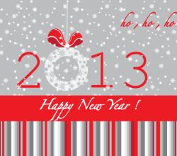 Happy New Year 2013 Vector Illustration