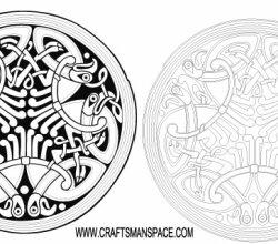 Circle Celtic Ornament Vector