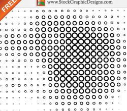 Halftone Circle Line Free Vector Art Illustration