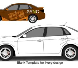 Subaru WRX Vector Template
