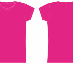 Girls Tshirt Template Vector