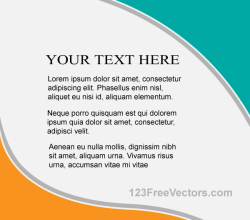 Vector Flyer Design Template
