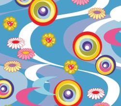 Asian Style Pattern Background Design Art