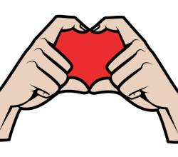 Hands Making a Heart Shape Vector