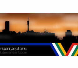 Johannesburg Skyline Silhouettes Vector