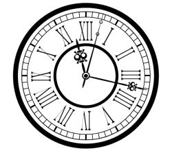 Vector Vintage Old Clock