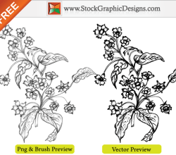 Free Vector Sketchy Hand Drawn Flowers