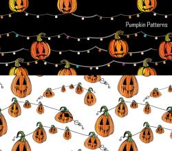 Halloween Pumpkin Vector and Photoshop Pattern