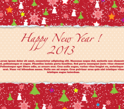 Happy New Year 2013 Red Greeting Card