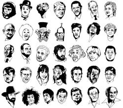 Sketchy Faces: Celebrity Vectors