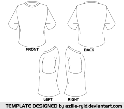 Vector Blank Tshirt Template Front and Back