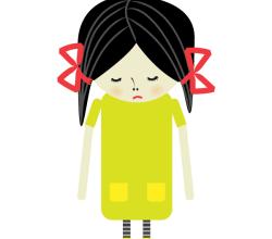 Vector Sad Girl