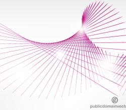 Vector Pink Curve Lines Background Illustration