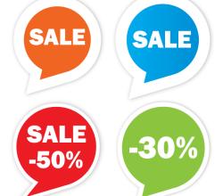 Vector Sale Sticker Set