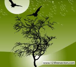 Nature Night Scene Vector