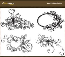 Free Vector Hand Drawn Ornaments