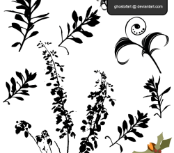 Free Vector Flower Plant Silhouettes