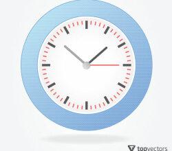Simple Analog Clock Vector
