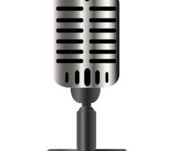 Vintage Microphone Vector Graphics
