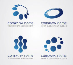 Blue Logos Vector Pack