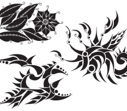 Vector Flowers Silhouette Resource