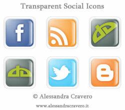 Vector Transparent Social Media Icons