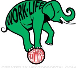 Vector Work and Life Balance