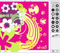 Flowers Illustrator Brushes Free