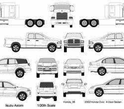 Cars, Trucks, Van Vectors