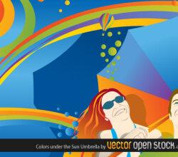 Colors Under The Sun Umbrella