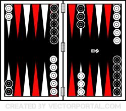 Backgammon Board Vector