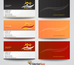 Real Estate Business Card Vector Designs