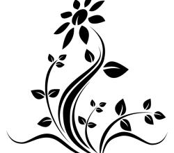 Vector Flower Tattoo Design