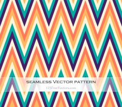 Free Colorful Chevron Pattern Vector Art