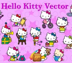 Vector Art Hello Kitty