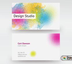 Designer Business Card Vector