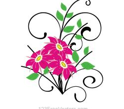Flower Bouquet Vector Clip Art